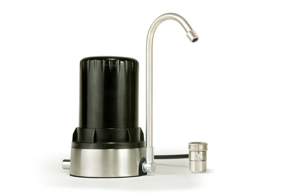 AYRO HT - Countertop Water Filter - Black Brushed Stainless