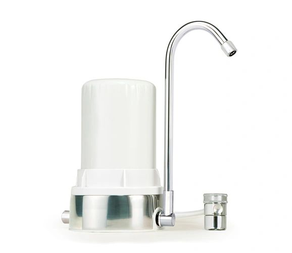 Ayro HT Plus - Countertop Water Filter with Alkaline Minerals & Antioxidants - White Polished Chrome
