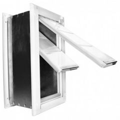 Wall Mount Dog Door Double Flap