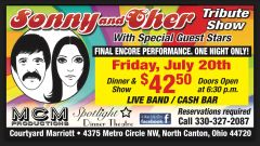 Sonny and Cher Tribute Show - June 20th only!
