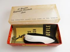 Lou Eppinger DARDEVLE Black & White New in Box Fishing Lure