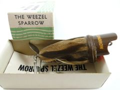 Weezel Sparrow Bait Company Weezel Sparrow Brown New in Box with Paperwork