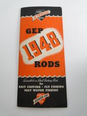 GEP Fishing Rod Catalog 26 pages with insert Circa 1947