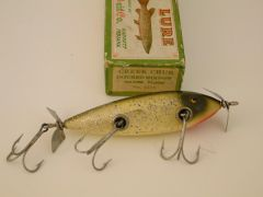Creek Chub 1518 Injured Minnow Fishing Lure NIB + Military Stencil