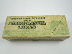 Strike Master No. 9146 Hellgramite (white, red head) Label End BOX TOP ONLY