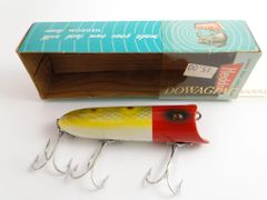 Heddon RH Frog Spot Glass Pin Eye LUCKY 13 Wood Lure NEW IN BOX