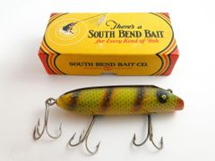 South Bend 973 YP Yellow Perch Bass Oreno with Tack Eyes in Correct Box