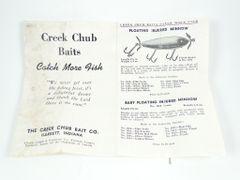 Creek Chub Box Insert circa mid/late 1950's