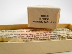 Buck Bird Knife Model 321 New Old Stock in Box + Paper Work
