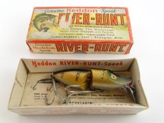 Heddon Jointed River Runt Model 9330 in Pike Scale