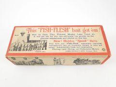 Heddon Basser Spook FISH FLESH BOX with Rare Inserts