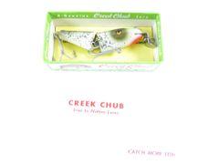 Creek Chub 4218 Midget Jointed Pikie SILVER FLASH NEW OLD STOCK GLASS Eye Model