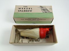 Weezel Sparrow Fishing Lure WHITE New in Box NICE!