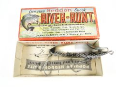 Heddon River Runt NO LIP S9400 SFB Silver Foil Black NEW IN BOX