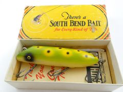 EX in Box South Bend Bass Oreno 973 FROG with Papers