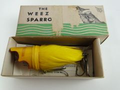 Weezel Sparrow Fishing Lure New in Box YELLOW with Paperwork