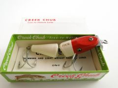 Creek Chub Jointed Midget Pikie Model 4202 red head white body NEW IN BOX
