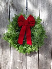 "Woodside - 24"" Wreath - Red Bow"