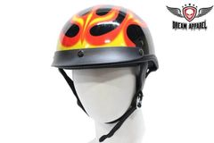 DOT Motorcycle Helmet With Flame