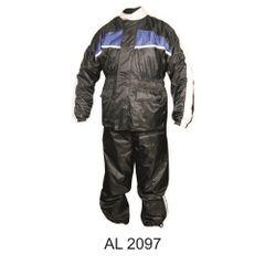 Mens Blue and Black Rain suit