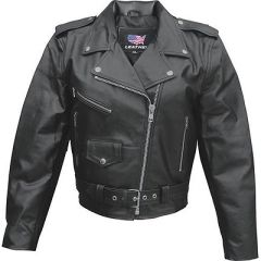 AL2101 LADIES BASIC MOTORCYCLE JACKET