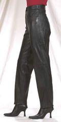 Ladies Leather 5 pocket Pants
