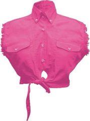 Ladies Tie-up Pink Top
