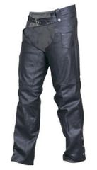 Unisex Buffalo Leather Chaps lined with silver Hardware