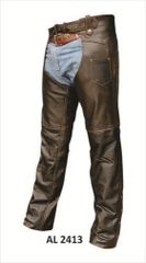 Retro Brown basic chaps lined