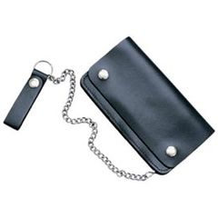 AL3201-Biker's Black Leather wallet
