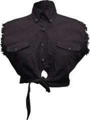 Ladies Tie-up Black Top