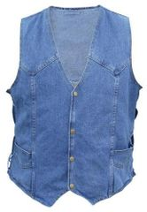 AL2961 Gun Pocket Men's Blue Denim Vest