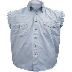 AL2904-Men's Light Blue Denim Sleeveless Shirt