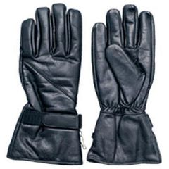 AL3062-Black Leather Lined Riding glove