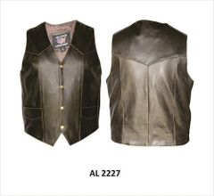 Men's Basic Retro Brown plain Vest