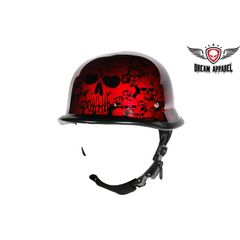 Burgundy Skull Graveyard German Novelty Helmet