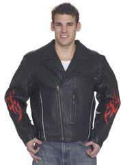 Mens Leather Racer Jacket