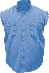 Mens Dark Blue Sleeveless Shirt