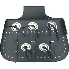 AL3651-Xtra-Large Studded Leather Throw Over Saddlebag