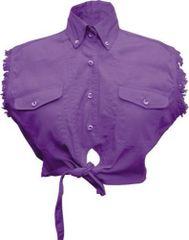 Ladies Tie-up Purple Top