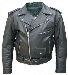 Mens Leather MotorCycle jacket Split Cowhide