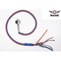 Blue & Orange Motorcycle Get Back Whip