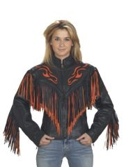 Womens Flame Motorcycle Jacket