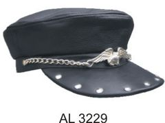 Biker Cap with Flying Eagle