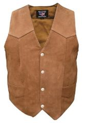 Ladies Plain Brown suede Vest