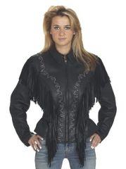 Womens Studded Black Motorcycle Jacket