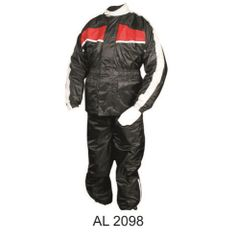 Mens Red and Black Rain suit