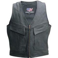 AL2252 Men's Cargo Pocket Motorcycle Vest