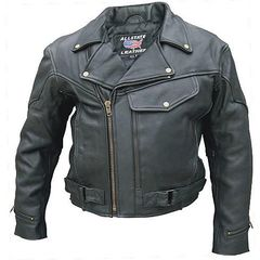AL2014-Men's Vented Leather Biker Jacket