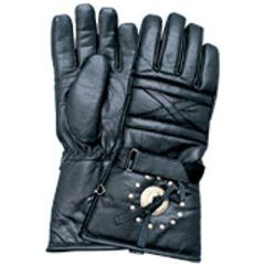 AL3056-Padded Leather Studded Riding Glove